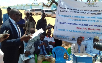 UN-Habitat provide 79 houses and a community centre to displaced people in Somalia
